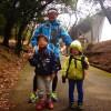 勝尾寺園地から政ノ茶屋園地をおおきくぐるっと。結構ハードな道が続く。子供たちよく頑張った!