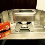 コンパクトなストーブといえば固形燃料!エスビットのポケットストーブとメスティンで炊飯仕様に!