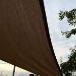 春過ぎて夏が来るからシェードセイル!ほどよい日陰ができて風通しもバッチリなタカショーのシェードセイルがお気に入り