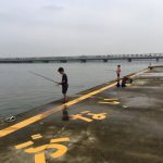 淀川河口で子供と一緒にハゼ釣り!ふわふわ白身が美味でした!